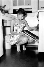 Lienzo  Audrey Hepburn en el horno - Celebrity Collection