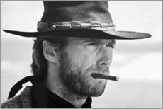 Póster  Clint Eastwood en el bueno, el feo y el malo - Celebrity Collection