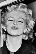 Cuadro de metacrilato  El beso de Marilyn Monroe - Celebrity Collection