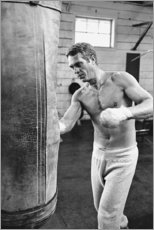 Cuadro de metacrilato  Steve McQueen entrenando - Celebrity Collection