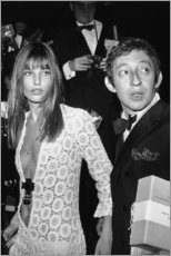Cuadro de madera  Jane Birkin y Serge Gainsbourg - Celebrity Collection