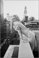 Cuadro de madera  Marilyn Monroe en Nueva York - Celebrity Collection