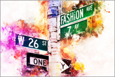 Póster NYC Fashion Avenue