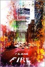 Póster NYC Fire Lane