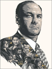 Póster  Los Sopranos - The Usher designs