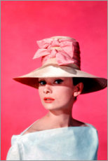 Lienzo  Audrey Hepburn - rosa - Celebrity Collection