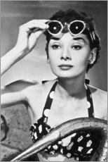 Lienzo  Audrey Hepburn en gafas de sol - Celebrity Collection