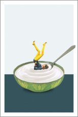 Póster Yoga en mi yogurt