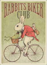 Cuadro de metacrilato  Rabbits Biker Club - Mike Koubou