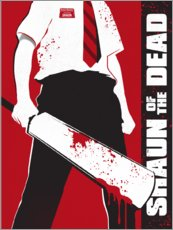 Póster  Shaun of the dead - Golden Planet Prints