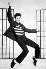 Cuadro de madera  Elvis Presley bailando II - Celebrity Collection