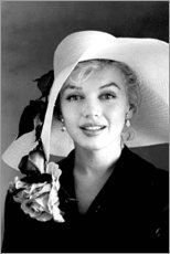 Cuadro de metacrilato  Marilyn Monroe con sombrero blanco - Celebrity Collection