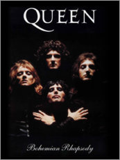 Cuadro de madera  Queen - Bohemian Rhapsody - Entertainment Collection