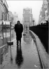 Lienzo  James Dean en Times Square - Celebrity Collection