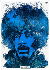 Póster  Retrato Jimi Hendrix - Entertainment Collection