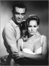 Póster Sean Connery y Ursula Andress