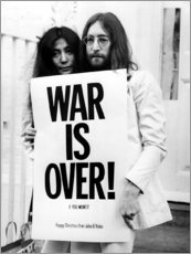 Cuadro de madera  Yoko & John - War is over!