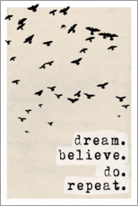 Póster Dream believe do repeat