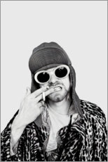 Cuadro de madera  Kurt Cobain - Celebrity Collection