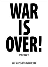 Cuadro de metacrilato  War is over!