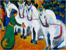 Lienzo  Doma de caballos - Ernst Ludwig Kirchner