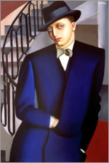 Póster Portrait of the Marquis of Afflito on the staircase 1926