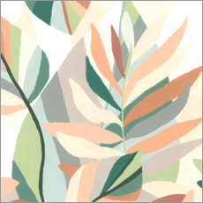Vinilo para la pared  Soft Tropics I - June Vess