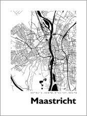 Póster  Mapa de Maastricht - 44spaces