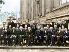 Póster  Quinta Conferencia Solvay, 1927 (en color)