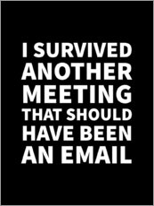 Póster I Survived Another Meeting That Should Have Been an Email