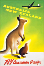 Póster  Australia, Nueva Zelanda - Travel Collection