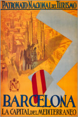 Lienzo  Barcelona - Travel Collection