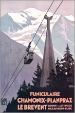 Póster  Chamonix-Mont-Blanc (francés) - Travel Collection