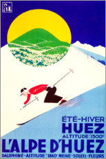 Póster  L'Alpe d'huez (francés) - Travel Collection