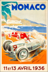 Cuadro de metacrilato  Gran Premio de Mónaco 1936 (francés) - Travel Collection