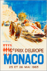 Cuadro de metacrilato  Gran Premio de Mónaco 1963 (francés) - Travel Collection