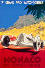 Póster  Gran Premio de Mónaco 1935 (francés) - Travel Collection