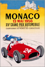 Póster  Gran Premio de Mónaco 1956 (francés) - Travel Collection