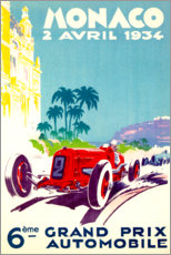 Cuadro de metacrilato  Gran Premio de Mónaco 1934 (francés) - Travel Collection