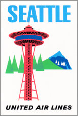 Póster  Seattle - Travel Collection