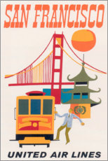 Lienzo  San Francisco - Travel Collection