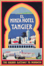 Lienzo  Minza Hotel Tánger (Inglés) - Travel Collection