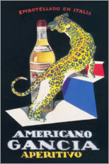 Cuadro de metacrilato  Gancia Vermouth Bianco (italiano) - Advertising Collection