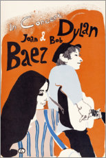 Póster  Concierto de Bob Dylan y Joan Baez (inglés) - Entertainment Collection