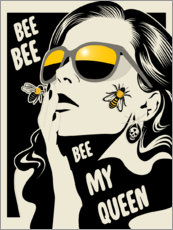 Póster Bee my queen