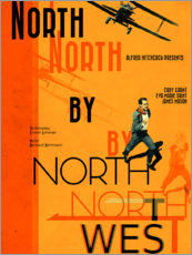 Cuadro de madera  North by Northwest - Entertainment Collection