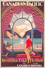Lienzo  Lake Louise (inglés) - Kenneth Shoesmith