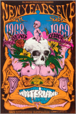 Póster  New Year's Eve concert, Grateful Dead - Entertainment Collection