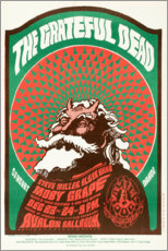Póster  Grateful Dead Concert 1966 - Entertainment Collection