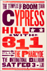 Lienzo  Cypress Hill, con 311, Concierto 1996 - Entertainment Collection